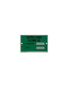 Plaques produits SANS PLOMB 95